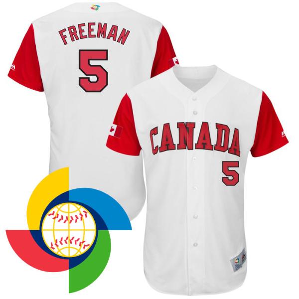 Men's-canada-freddie-freeman-2017-world-baseball-classic-white-authentic-jersey