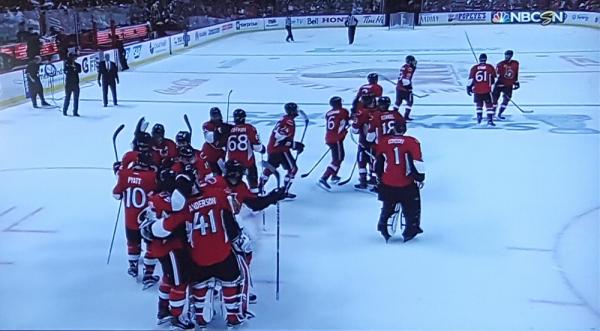 Ottawa game 6 celebration