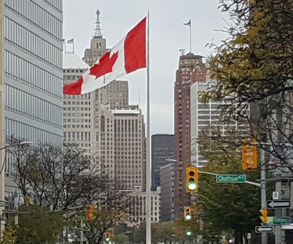 Canada flag windsor