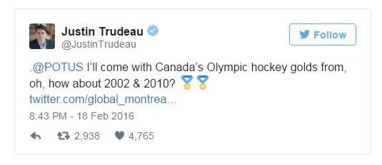 Trudeau tweet