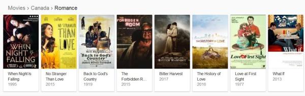 Canada romance film