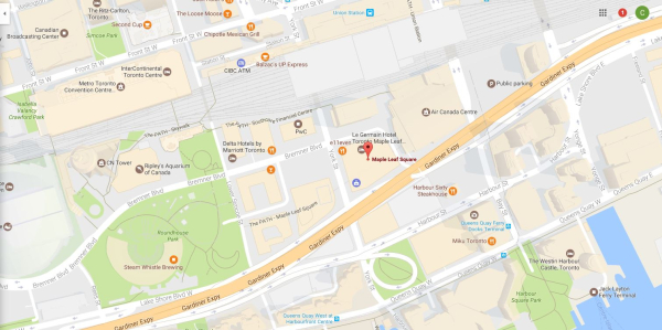 Maple leaf square map
