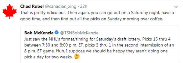 Bob mckenzie tweet