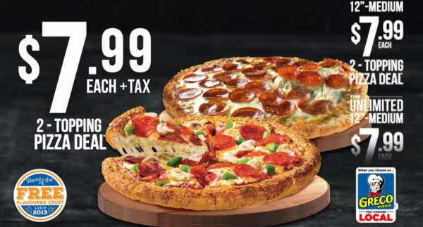 Greco 799 pizza deal